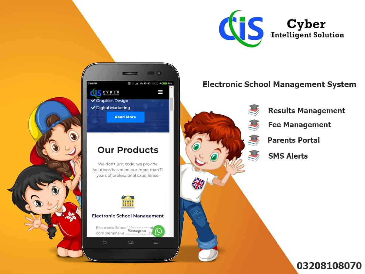 Electronic school management software